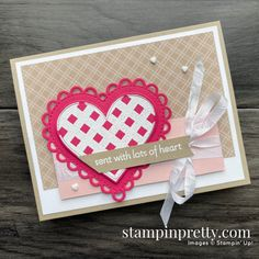 Mary Fish, Mini Sales, Stampin Pretty, Friendship Cards, Heart Cards, Holiday Cards, Valentine Cards, Valentines, Love Cards