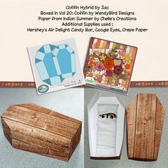 WendyBird Designs' Boxed in Vol 20: Coffin | Paper from Indian Summer by Chelle's Creations