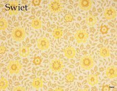 Retro bloemen behang | Swiet