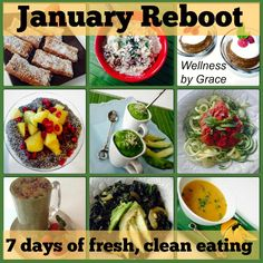 www.wellnessbygrace.com/services -- best deal in town! Starts January 19th online. 7 days guided clean eating detox.