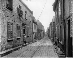 Rue du Petit-Champlain, Québec, QC, 1916