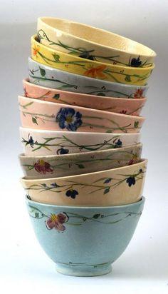Ceramic Bowl Set Pasta Bowl Set Soup Bowl by LimorsCeramicsShop. Pottery Painting, Ceramic Painting, Ceramic Art, Pottery Bowls, Ceramic Bowls, Ceramic Pottery, Earthenware, Stoneware, Art Du Monde