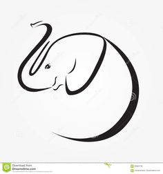 da4236a6a Baby Elephant Icon Stock Vector - Image  83824738