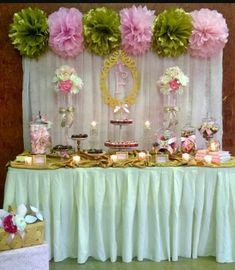 Love the tissue paper Pom Pom's Tea Party Baby Shower, Baby Shower Fall, Floral Baby Shower, Girl Shower, Baby Shower Games, Bridal Shower, Girl Baby Shower Decorations, Birthday Decorations, Flower Wall Wedding