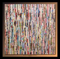 TEHOS (©2014 artmajeur.com/tehos) Tehos painting - acrylic and collage on canvas 80*80 cm Green days Tableau de Tehos acryliqu eet marouflage sur toile 80*80 cm - Green days #art #collage #tehos
