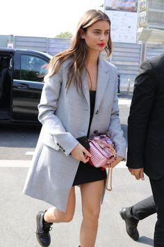 """taylorsmariehill: """"Taylor Hill arriving at the Missoni show in Milan on September """" Classy Outfits, Pretty Outfits, Cool Outfits, Fashion Outfits, Womens Fashion, Taylor Hill Style, Taylor Marie Hill, Inka Williams, Kendall Jenner Style"""