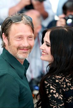 Eva Green with Mads Mikkelsen | 'The Salvation' Photocall at Cannes Film Festival 2014