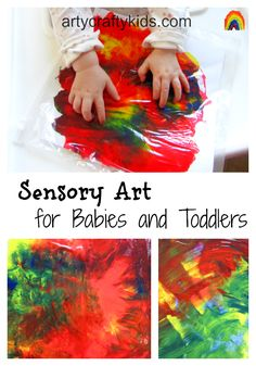 Sensory Art for babies and toddlers - Arty Crafty Kids