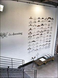 Hanger Display via Hamed Kohan Pinterest Main