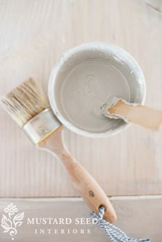 mix white wax and antiquing wax to make a pale gray wax | miss mustard seed