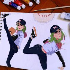 MZ09, Baseball Girl. :3 #illustration #drawing...