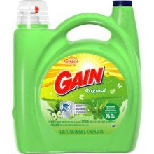 Gain Laundry Detergent /  When i saw this i thought about exactly how much i love my Gain. period.