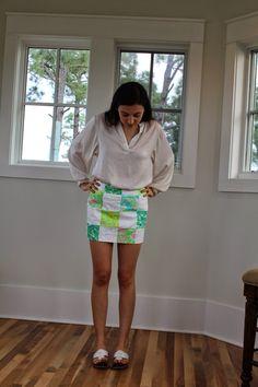Lilly Pulitzer patchwork skort