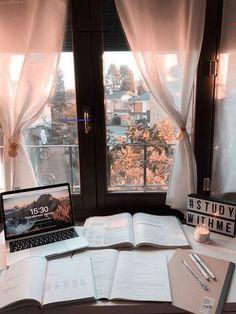 Study Desk, Study Space, Study Areas, Study Room Decor, Bedroom Decor, Study Corner, Study Organization, Aesthetic Room Decor, Study Hard