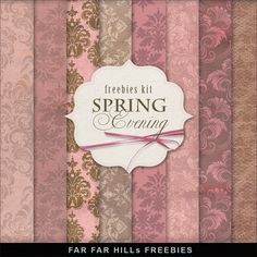Far Far Hill-FREEBIES Vintage Style Backgrounds -Spring Evening