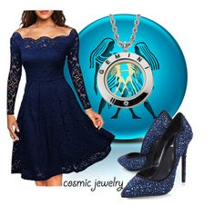 """""""What's Your Sign: Cosmic Jewelry"""" by victoria-ronson ❤ liked on Polyvore featuring Miusol and Carvela"""