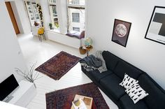 I'm still obsessed with these rugs. They make the whole room feel a bit alternative.