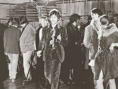 60s groupie, John Lennon , George Harrison and Pattie in backround, A Day in a Life