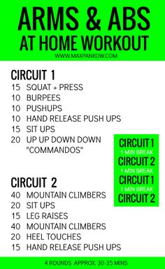 Don't you just LOVE a great arm and ab workout?  Your arms may be shaking now, but I PROMISE that definitely won't be the case in a few weeks if you stick with this circuit routine!  Check it out... video examples on the blog!