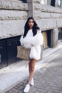 All white attire Janice Joostema