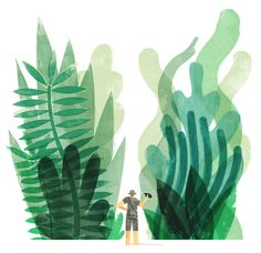 Navigating the Jungle - Illustration by Keith Negley for LA Times Business Section