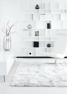 Home Decor – Living Room : Linie Design Maltino White Rug Living Room White, Beautiful Living Rooms, White Rooms, Home And Living, White Bedroom, White Rug, White Area Rug, Interior Architecture, Interior Design