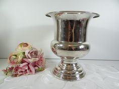 Elegant Gorham French Dragoon Silverplate Champagne Wine Cooler - Lovely Silver Plate Champagne Wine Cooler Ice Bucket - Classic Elegant by SecondWindShop on Etsy
