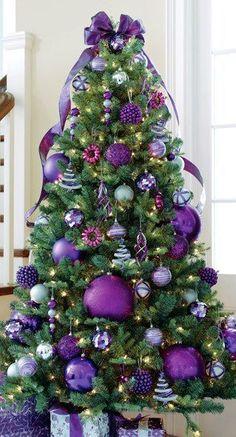 PURPLE THEME CHRISTMAS TREE