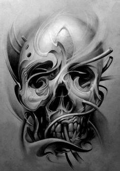 pointillism skull - Google Search