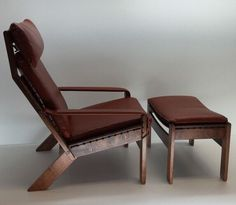 Rare Westnofa, Rosewood Lounge Chair & Ottoman Mid Century Modern  Norway