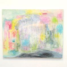 【torii0_0_0】さんのInstagramをピンしています。 《『遠い声#12』F30号  #アクリル絵の具 #artist #art #トキアートスペース #渋谷区 #個展 #抽象画 #F30 #abstract #アート #森 #地球 #キリン》
