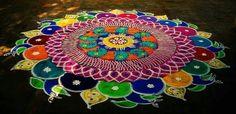 Kolam Peacock Rangoli Designs for Diwali