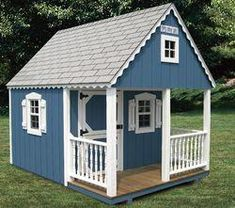The Complete Guide to Outdoor Playhouse Kits - The Complete Guide to Outdoor Playhouse Kits The Complete Guide to Outdoor Playhouse Kits – Paul's Playhouses Simple Playhouse, Kids Playhouse Plans, Outside Playhouse, Backyard Playhouse, Build A Playhouse, Outdoor Playhouse For Kids, Childrens Wooden Playhouse, Wooden Playhouse Kits, Girls Playhouse