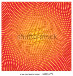 vector line and dot colorful pattern  - stock vector