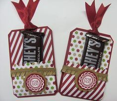 Chalktalk candy favors 003 Stampin' Up! Christmas Craft Fair, Christmas Favors, Stampin Up Christmas, Christmas Tag, All Things Christmas, Holiday Crafts, Xmas, Christmas Paper Crafts, Tarjetas Diy