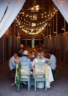 Burlap chair decor {Photo by Alixann Loosle via Project Wedding}