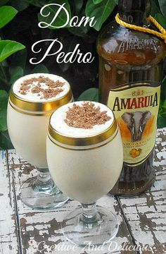 Dom Pedro With Vanilla Ice Cream, Amarula Liqueur, Cream, Chocolate Bar