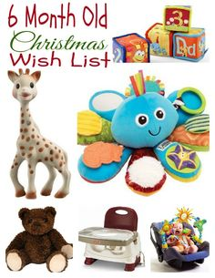 Here are some tried and true toys for the newset member of the family!  http://fabulesslyfrugal.com/my-6-month-olds-christmas-wish-list/