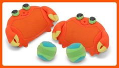 Melissa & Doug Sunny Patch Clicker Crab Toss & Grip Game: Catch more fun at the beach or in your back yard with these soft, self-stick mitts and balls. Clicker Crab Toss and Grip helps develop hand-eye coordination. Toys For Little Kids, Toys For Girls, Games For Kids, Toddler Toys, Kids Toys, Children's Toys, Best Outdoor Toys, Outdoor Games, Outdoor Play