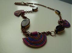 Martinuska / náhrdelník do fialova