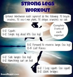 A Strong Legs Workout.  Get those strong runners legs and stay injury free, or just get amazing looking legs!