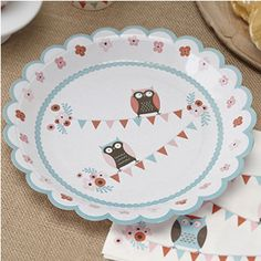 Patchwork Owl Birthday Party Baby Shower Tableware Supplies Plates for sale online Owl Themed Parties, Owl Parties, Birthday Parties, Birthday Stuff, 40th Birthday, Birthday Ideas, Owl Party Supplies, Black Friday Toy Deals, Paper Owls
