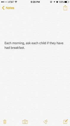 A wonderful thing to do each morning