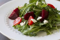 Beet and Arugula Salad with Dijon Vinaigrette - Click for Recipe