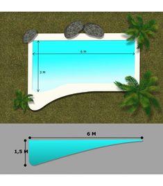 Small Inground Pool, Natural Swimming Pools, Small Pools, Swimming Pools Backyard, Pool Landscaping, Beach Entry Pool, Backyard Beach, Backyard Pool Designs, Beach Pool