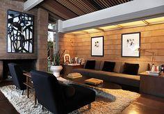 The living room of the home of Eric Pfeiffer, designer. Oakland, CA