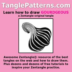Step-by-step instructions to learn how to draw the Zentangle-original tangle pattern: Gourdgeous