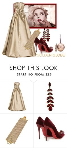 """""""Scarlett Johansson"""" by shoppe23 on Polyvore featuring Dolce&Gabbana, Alexis Mabille, Christian Louboutin and Charlotte Tilbury"""