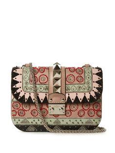 Valentino Lock small geometric-embellished shoulder bag