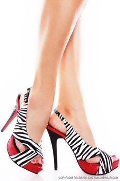Trudy are these as good as red....i think so!  Zebra heels .